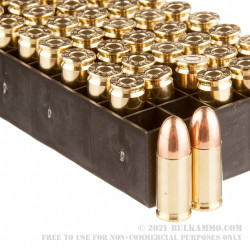 1000 Rounds of 9mm Ammo by PMC - 124gr FMJ