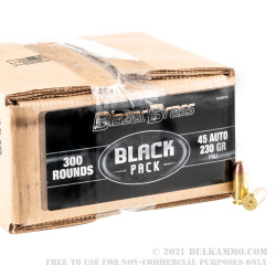 300 Rounds of .45 ACP Ammo by Blazer Brass Black - 230gr FMJ