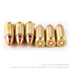 1000 Rounds of 9mm Ammo by IMI Systems - 115gr FMJ
