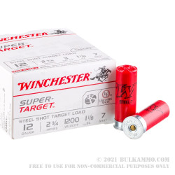 25 Rounds of 12ga Ammo by Winchester - 1 1/8 ounce #7 Shot (Steel)