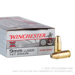 500 Rounds of 9mm Ammo by Winchester Super-X - 147gr BEB