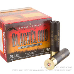 "25 Rounds of 12ga Ammo by Federal Blackcloud - 3-1/2"" 1 1/2 ounce BBB"