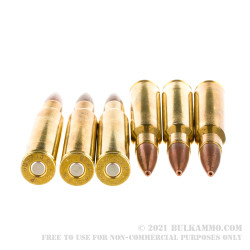 20 Rounds of 30-06 Springfield Ammo by Remington HTP Copper - 168gr TSX