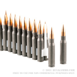 20 Rounds of .308 Win Ammo by Wolf Performance - 150gr FMJ