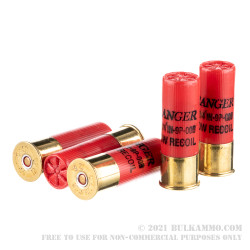 250 Rounds of 12ga Ammo by Winchester Ranger - 00 Buck 9 Pellets Low Recoil