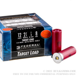 250 Rounds of 12ga Ammo by Federal Top Gun - 7/8 ounce #8 shot
