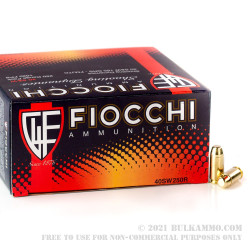 1000 Rounds of .40 S&W Ammo by Fiocchi - 165gr FMJ