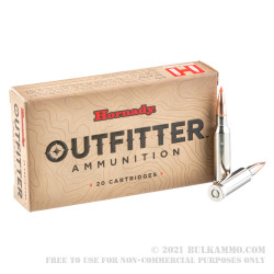 20 Rounds of 6.5mm Creedmoor Ammo by Hornady Outfitter - 120gr GMX