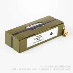 900 Rounds of 5.56x45 Ammo by Military Surplus - 62gr FMJ M855