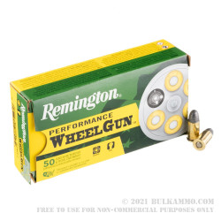 500  Rounds of .32S&W  Ammo by Remington Performance WheelGun - 88gr LRN