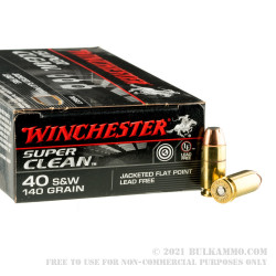 50 Rounds of .40 S&W Ammo by Winchester SuperClean NT - 140gr JFP