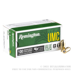 100 Rounds of .45 ACP Ammo by Remington - 230gr MC