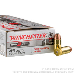 500 Rounds of .45 ACP Ammo by Winchester 3Gun - 230gr FMJ