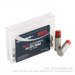 10 Rounds of .44 Spl/Mag Ammo by CCI Big 4 - 110 Grain #4 shot