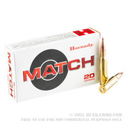 20 Rounds of .308 Win Ammo by Hornady Match - 168gr ELD Match