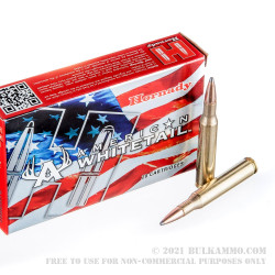 20 Rounds of .270 Win Ammo by Hornady American Whitetail - 140 Grain InterLock