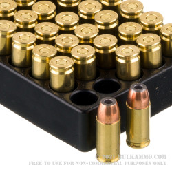 50 Rounds of 9mm Ammo by Aguila - 117gr JHP