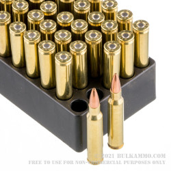 50 Rounds of .223 Ammo by Black Hills re-manufactured Ammunition - 77gr Sierra MatchKing HP