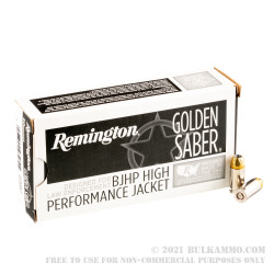50 Rounds of .380 ACP Ammo by Remington Golden Saber - 102gr BJHP