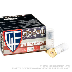 25 Rounds of 12ga Ammo by Fiocchi - 9 Pellet 00 Buck