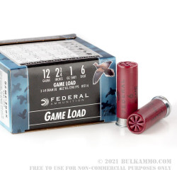 250 Rounds of 12ga Ammo by Federal - 1 ounce #6 shot