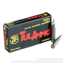 20 Rounds of .223 Ammo by Tula - 75gr HP