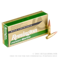 200 Rounds of .300 AAC Blackout Ammo by Remington Premier Match - 125gr OTM