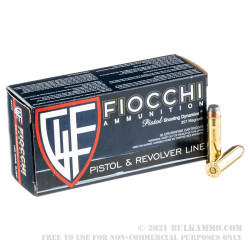 1000 Rounds of .357 Mag Ammo by Fiocchi - 125gr SJSP