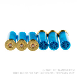 """250 Rounds of 12ga Ammo by Fiocchi White Rino - 2-3/4"""" 1 1/8 ounce #7 1/2 shot"""