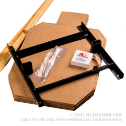 IDPA Pro Kit - 20 IDPA Cardboard Targets, Collapsible Stand, and Pasters