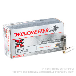 500 Rounds of .357 Mag Ammo by Winchester Super X - 115gr Silvertip JHP