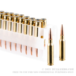 20 Rounds of 6.5 Creedmoor Ammo by Federal American Eagle - 120gr TMJ
