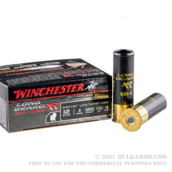 10 Rounds of 12ga Ammo by Winchester Long BeardTurkey Load - 1 3/4 ounce #4 shot