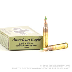500 Rounds of 5.56x45mm M855 Steel Core Ammo by Federal - 62gr FMJ-BT