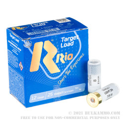 250 Rounds of 12ga Ammo by Rio Target Load Light - 7/8 ounce #8 shot