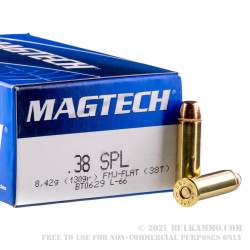 1000 Rounds of .38 Special Ammo by Magtech - 130gr FMJ