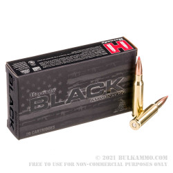 200 Rounds of .308 Win Ammo by Hornady BLACK - 168gr A-MAX