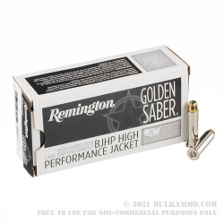 500 Rounds of .357 Mag Ammo by Remington Golden Saber - 125gr BJHP