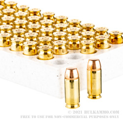50 Rounds of .40 S&W Ammo by Winchester Service Grade - 165gr FMJ