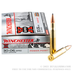 20 Rounds of 30-06 Springfield Ammo by Winchester Super-X - 150gr PP