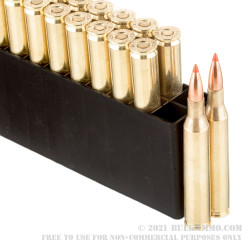20 Rounds of 25-06 Remington Ammo by Hornady Superformance - 117gr SST