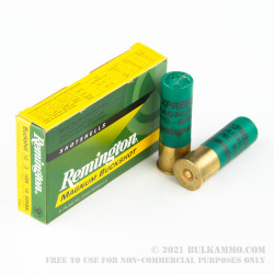 """5 Rounds of 12ga Ammo by Remington - 3"""" 000 Buck"""