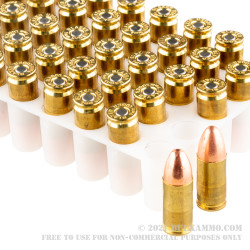 50 Rounds of 9mm Ammo by Independence - 124gr FMJ