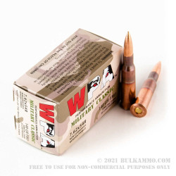 500 Rounds of 7.62x54r Ammo by Wolf Military Classic - 148gr FMJ