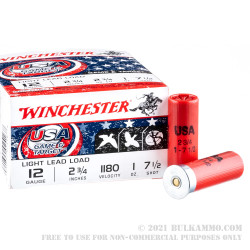 25 Rounds of 12ga Ammo by Winchester USA Game & Target - 1 ounce #7.5 shot