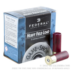 250 Rounds of 12ga Ammo by Federal -  #4 shot