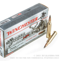 20 Rounds of 7mm Rem Mag Ammo by Winchester Deer Season XP - 140gr Extreme Point