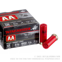 25 Rounds of 12ga Ammo by Winchester AA - 1 1/8 ounce #7 1/2 shot
