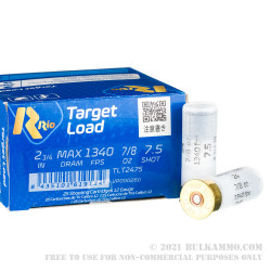 250 Rounds of 12ga Ammo by Rio Target Load Trap - 7/8 ounce #7.5 shot