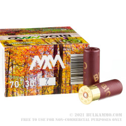 250 Rounds of 12ga Ammo by BioAmmo Lux Lead - 1-1/16 ounce #7 shot